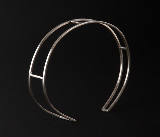bracelet with clean architectural lines.