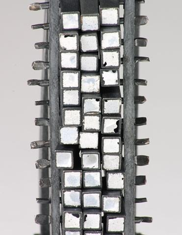 Michael Rybicki - PouredGrid:42-Detail (2011). Bracelet: Sterling Silver, Enamel