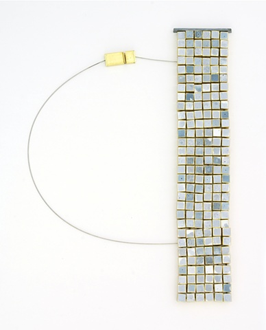 Michael Rybicki - PouredGrid:150 (2011). Necklace: Sterling, Brass, Enamel, Stainless