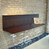 Rusted steel, cantilevered buffet