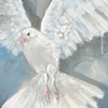 Detail of Peace Dove mural by Deb Collins