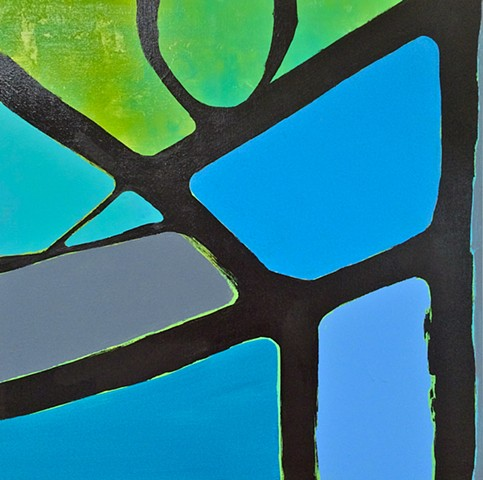 contemporary abstract art, LANDSCAPE, modern, blue,stripes, green, copper, yellow, orange, contemporary art, abstract, san diego, san diego artist, affordable art, bright, colorful, non-representational abstract art