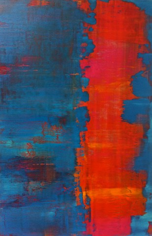 turquoise, aqua, red, modern art, contemporary art, contemporary abstract art