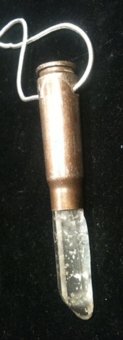 crystal bullet pendant