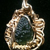 Moldavite w/ 18k gold