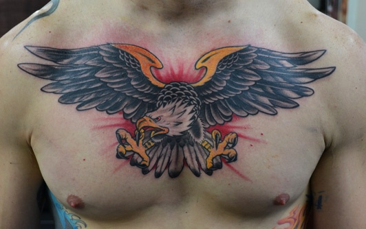 Custom Tattooing by: J Jones Austin tx - Traditional Eagle ...