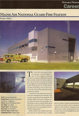 Award in fire station magazine.