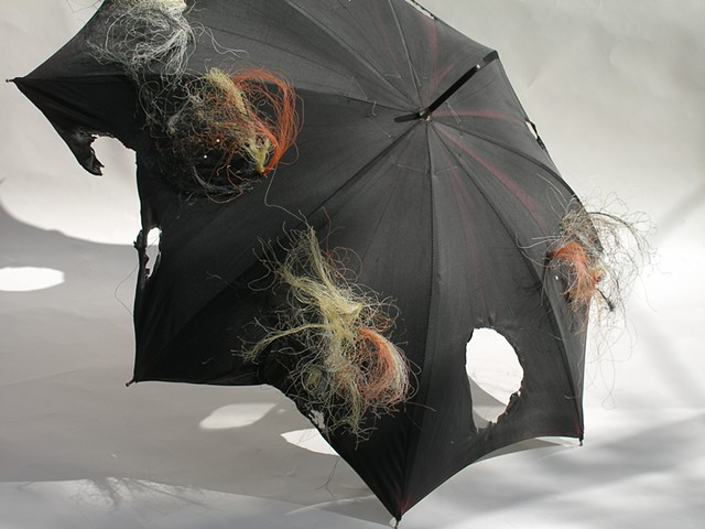Abstract sculpture with modified umbrella