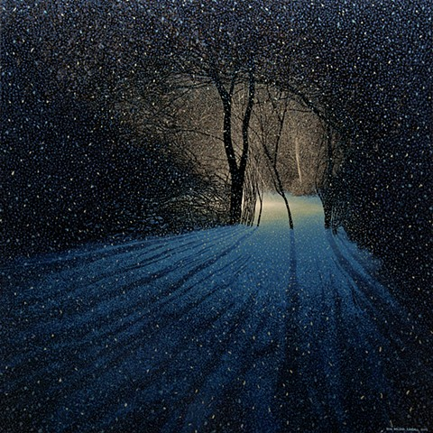 sean william randall nightpainting winter painting