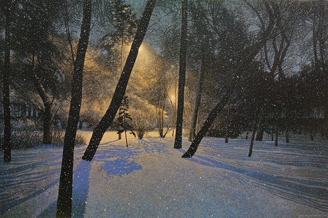 sean william randall artist winter painting