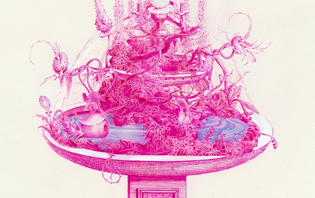 Pink Fountain (Detail)