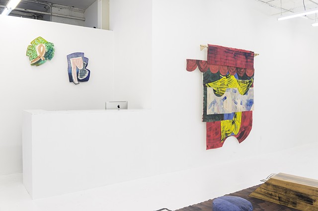 "Installation view of ""Movers and Shapers"" at Victori + Mo Gallery"