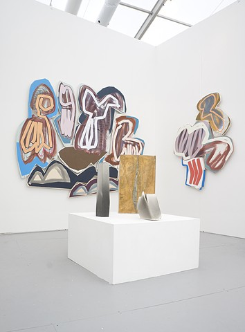 Installation view of Denny Gallery's booth at Untitled Miami Beach.