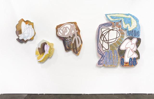 Installation view of Denny Gallery's booth at Untitled San Francisco.