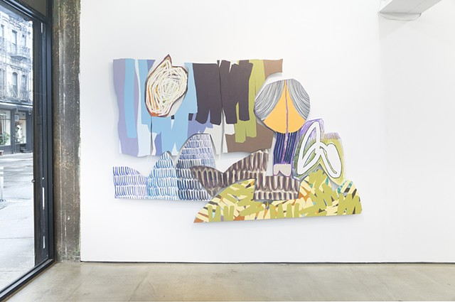 "Installation view of ""Freestanding"" at Denny Gallery"