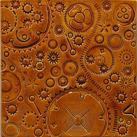SOLD Amber Gears 12x12 - 2B
