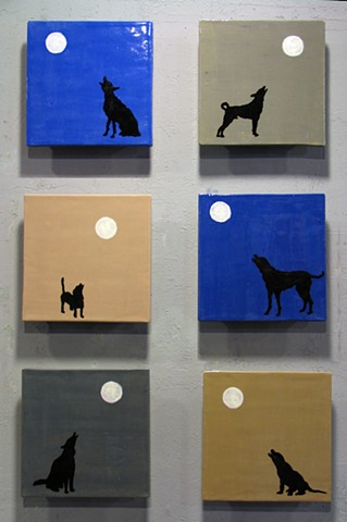 SOLD - Howling Dogs
