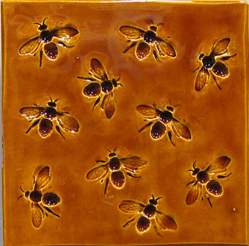 "Honey Bees 8""x8"""