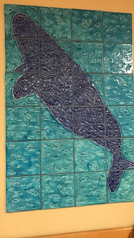 Whale and Sea - for Shriner's Children's Hospital, Oak Park, IL