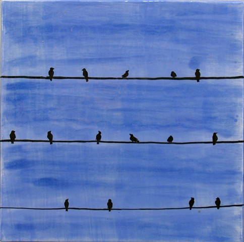 Gossip - C - birds on a wire - 12x12