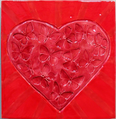 "SOLD Heart II - 12""x12"""