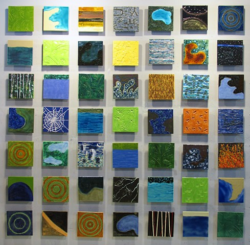 "Beautiful World II - 49 8""x8"" tiles"