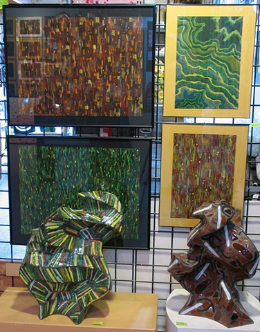 Studio- Pastels and Sculpture