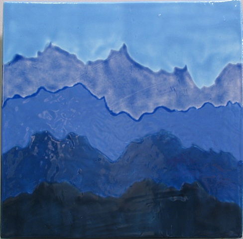 SOLD - Blue Mist Mountains