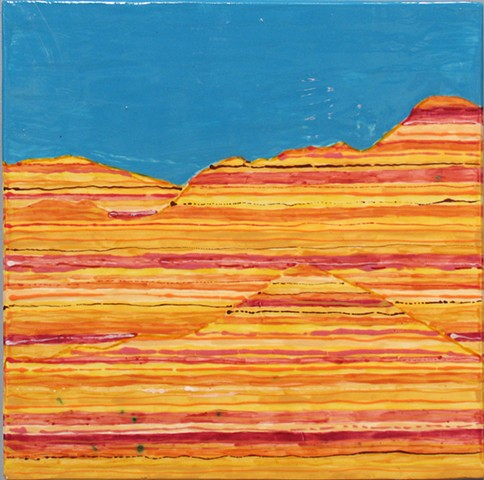 SOLD Painted Canyon 12x12Tile