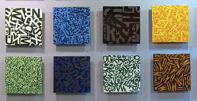 "Eight Letterfield 8 - 12""x12"" tiles"