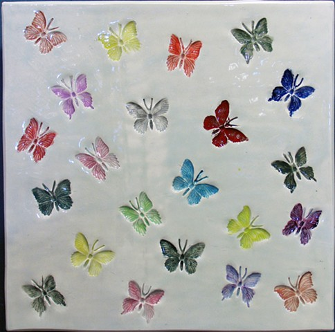 "Butterflies multi color 12""x12"""