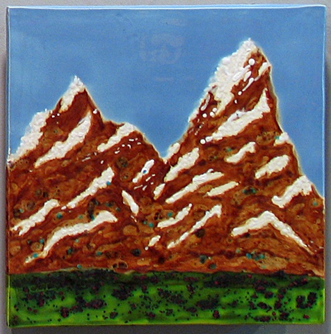 SOLD Swiss Alps 12x12 Tile