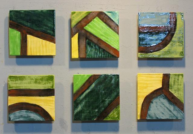 "Bird's Eye View 6 8""x8"" Tiles"
