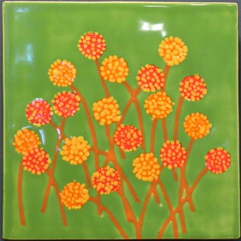 "Hot Flowers 12""x12"""
