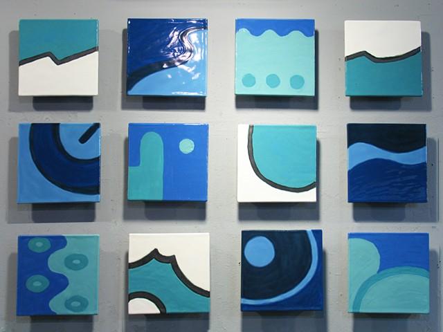 """Santorini - 12 8""""x8"""" tiles"""