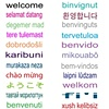 WELCOME in 80 Languages - Notecard, Poster, & more