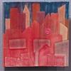 "SOLD Sunset Cities - 3 8""x8"" tiles"