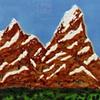 SOLD Swiss Alps 12x12 Tile