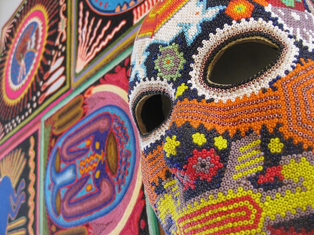 Beadwork, yarn paintings or clothing, the workshop was a beautiful exposure of design, creativity and amazing insight to this culture from mexico.