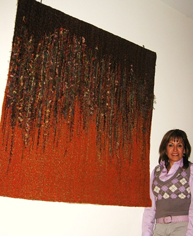 Laura Lozano and her Tapestry
