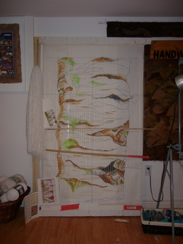 Beneath my skin. Tapestry in progress