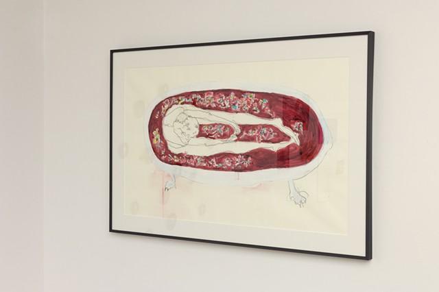 """Bathtub Flowers"", 2014  Fulbright Alumnae Exhibition"