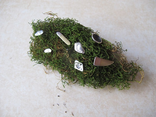 moss clump with miscellaneous studs