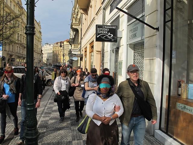 Sound Walk, Prague collaboration with Sivan Eldar