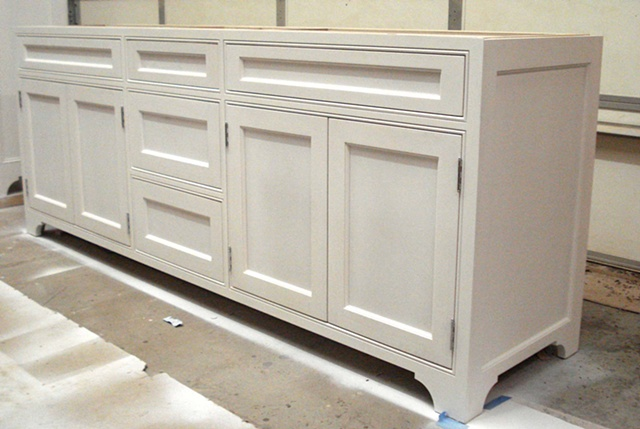 Thomas Duggan Woodworking Painted Vanity With Inset Doors