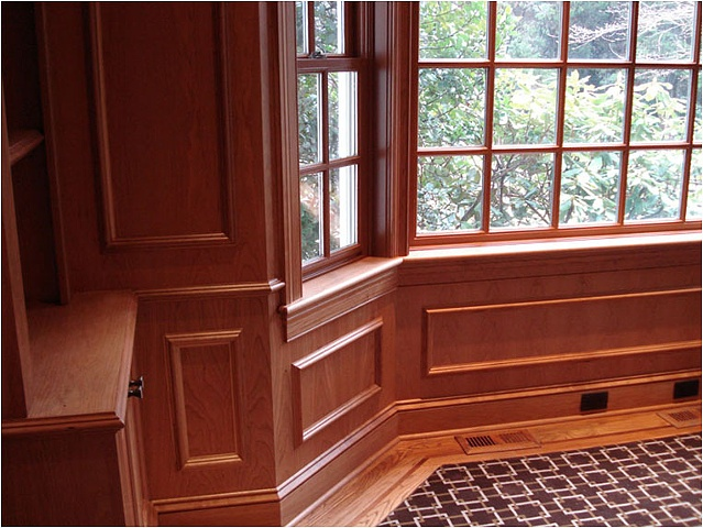 Cherry Paneling and Casing for Library