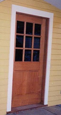 Mahogany Six Lite Door