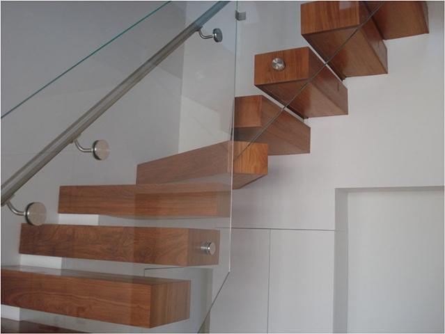 Teak Floating Staircase