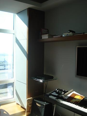 Walnut Cabinet with Translucent Laminate