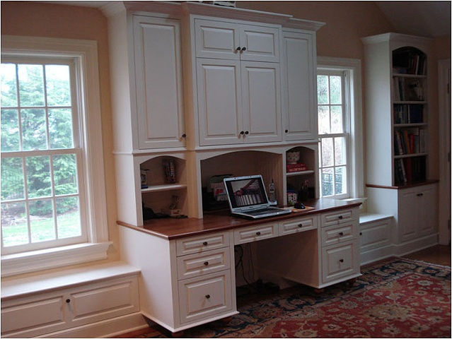 Thomas duggan woodworking built in desk bookcases Built in desk